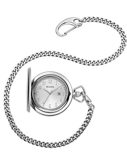 Bulova Stainless Steel 96B270 Pocket Watch