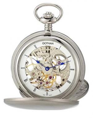 Gotham Silver-Tone Pocket Watch