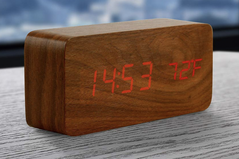 Oct17 Wooden Alarm Clock