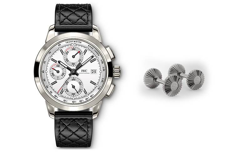 "IWC INGENIEUR CHRONOGRAPH EDITION ""W 125"" & IWC TITANIUM CROWN CUFFLINKS"