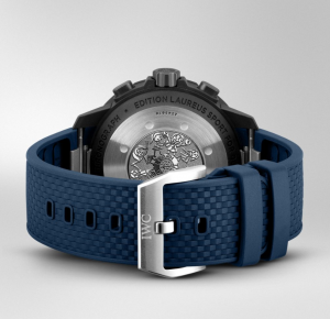 Watch with a rubber strap